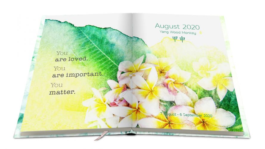 Every month a different design and color with inspiring quotes and beautiful picture